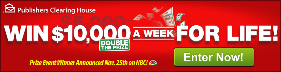 Win $10,000 a Week for Life! Hurry--Prize Winner Announced Nov. 25th on NBC!