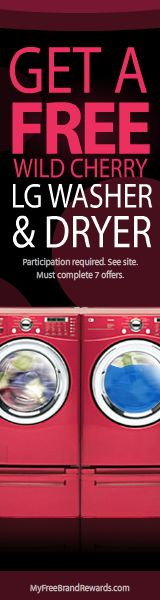 Get your free Washer and Dryer