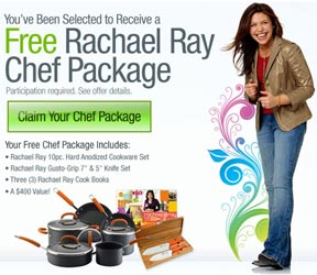 Claim Your FREE Rachael Ray Chef Package...Valued at over $400