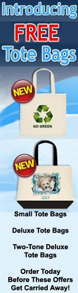 Introducing FREE Tote bags from VistaPrint.  An eco-friendly carry-all for wherever you go.  Click here...
