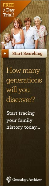 How Many Generations Will You Discover?  Trace Your Family Tree  Click here for details...