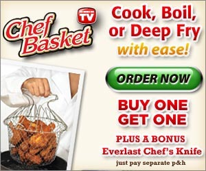 Chef Basket - Cook, Boil and Deep Fry with Ease!  Click here for details...