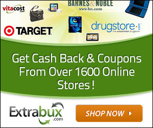 Sign-up with ExtraBux and get cashback and coupons from your favorite stores!   Click here for details...