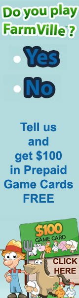 Do you play Farmville?  Get $100 in FREE Farmville gift cards. Click here for details...