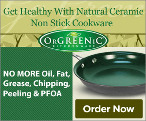 Get healthy with natural ceramic non stick cookware. OrGreenic is the new discovery for cooking that's a must have for your kitchen.