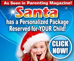 A personal package for your child from Santa!  Click here for details...