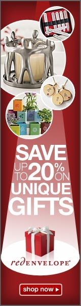 Save up to 20% on unique gifts at Red Envelope - Click here for details...