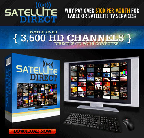 Watch Over 3,500 HD Channels Directly on Your Computer  Download Satellite Direct Now