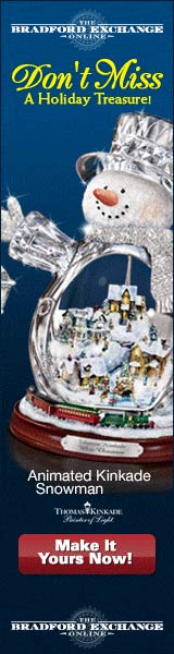 Own the Thomas Kinkade Crystal Snowman!  Click here for details...