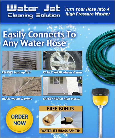 Turn your ordinary hose into a pressure washer  Simply connect to any water hose and get the power you need The ultimate cleaning solution...