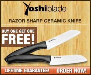 Yoshi Blade - Razor Sharp Ceramic Knife!  Click here for details...