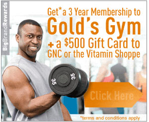 Get a 3 year membership to Golds on us! Click here for details...