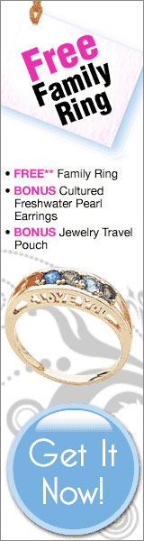 FREE Personalized Family Ring w/up to 7 Birthstones! Click here for details...