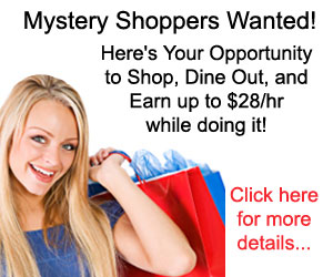 Shop, Dine Out, and Earn Up to $28/hr doing it!  Click here for more info...