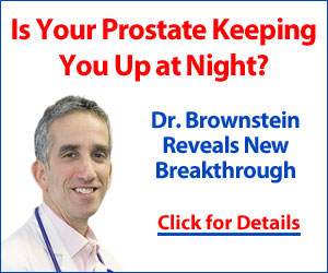 Is your prostate keeping you up at night? Dr Brown reveals a NEW breakthrough! Click here for details...