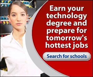 Earn your technology degree and prepare for tomorrow's hottest jobs.  Click here...